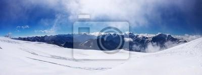 Skłon panorama śnieg