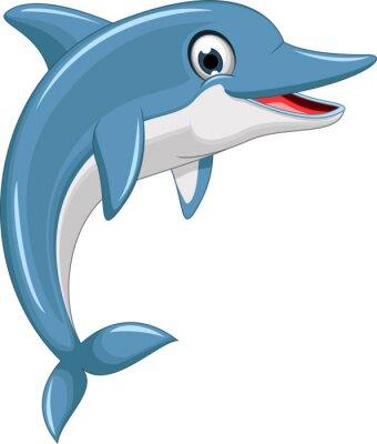 Naklejka Skoki delfinów cute cartoon