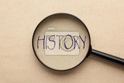 Naklejka Skoncentruj się na historii