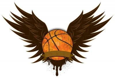 Naklejka Skrzydła Koszykówka