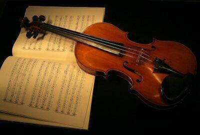 Naklejka skrzypce