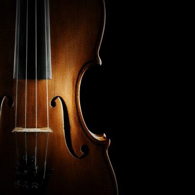Naklejka Skrzypce orkiestra instrumentów muzycznych