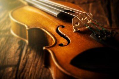 Naklejka skrzypce w stylu vintage
