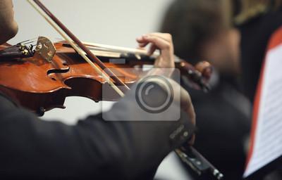 Naklejka skrzypek