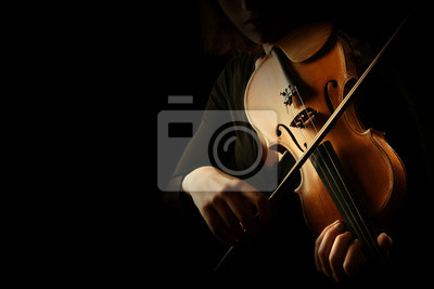 Naklejka Skrzypek. Skrzypaczki ręce gra na skrzypcach