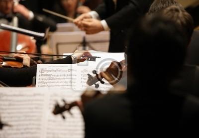 Naklejka skrzypków podczas koncertu