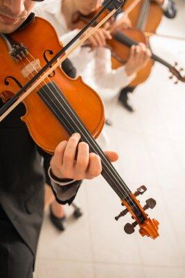 skrzypków wykonujących