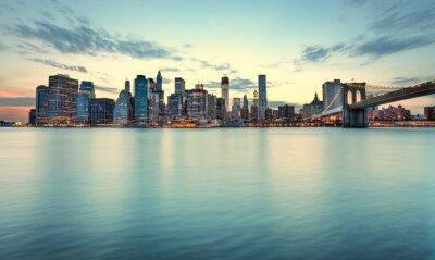 Naklejka Skyline de Manhatta, Nowy Jork.