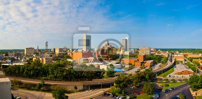 Naklejka Skyline Fort Wayne Downtown