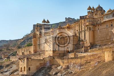 Naklejka Sławny Amer fort w Jaipur - Rajasthan, India