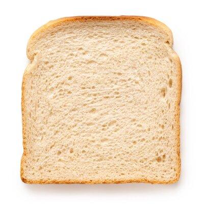 Naklejka Slice of white bread.