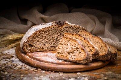 Naklejka Sliced artisan bread