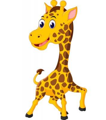 Naklejka Śliczne żyrafa cartoon ilustracji
