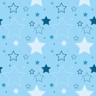 Naklejka Śliczny bezszwowy wektorowy wzór robić z wielostrzałowych gwiazd.