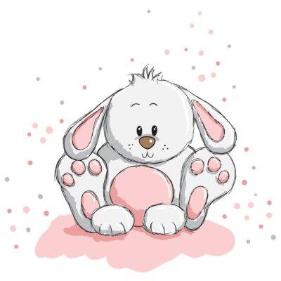 Naklejka Słodkie królik
