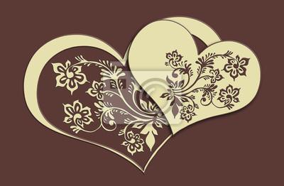 Naklejka słodkie serca