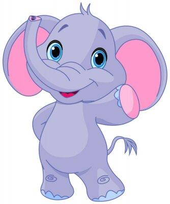Naklejka Słodkie słoń