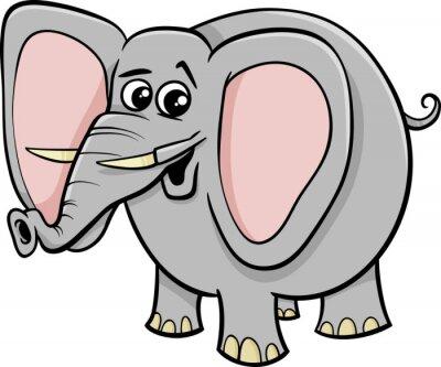 Naklejka Słoń charakter kreskówka