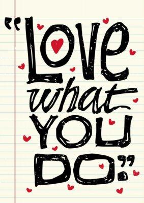 Naklejka Słowo miłość ZAPYTANIE