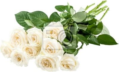 Naklejka Ślub bliska biały bukiet ślubny