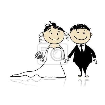 Naklejka Ślubną - młodzi razem dla projektu
