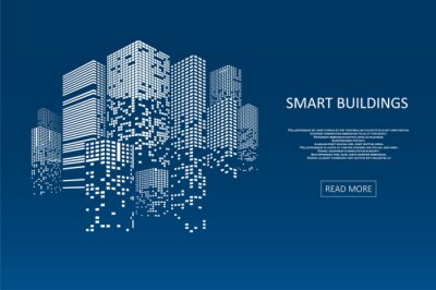 Naklejka Smart building concept design