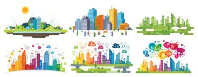 Naklejka smart city