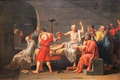 Naklejka Śmierć Sokratesa