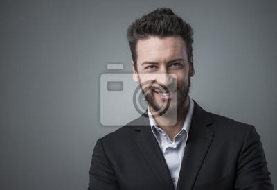 Smiling biznesmen portret