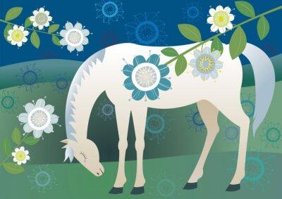 Naklejka Smutne konia