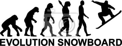 Naklejka Snowboard Evolution