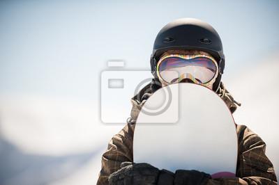Naklejka snowboard i snowboarder