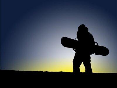 Naklejka Snowboard Zachód