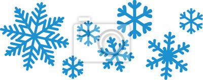 Naklejka Snowflake set