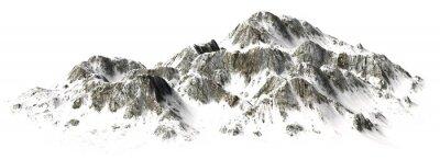 Naklejka  Snowy Mountains - Mountain Peak - separated on white background
