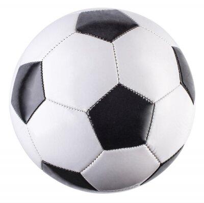 Naklejka Soccer ball isolated on white background