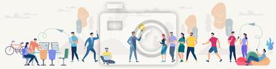 Naklejka Social Network and Teamwork Vector Concept.