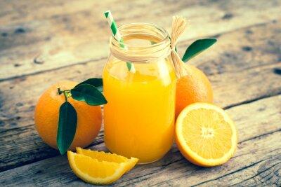 Naklejka sok pomarańczowy