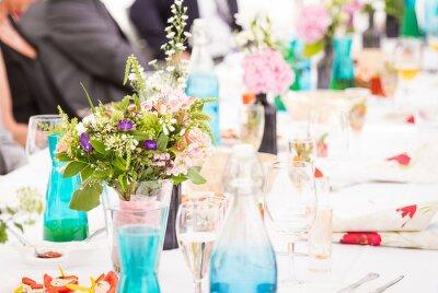 Sommerliche Hochzeitsdekoration