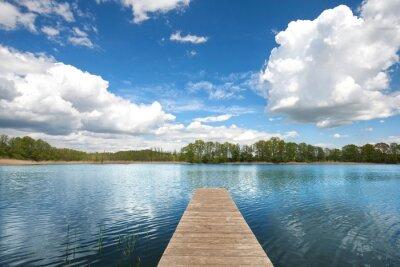 Naklejka Sommerwolken am See