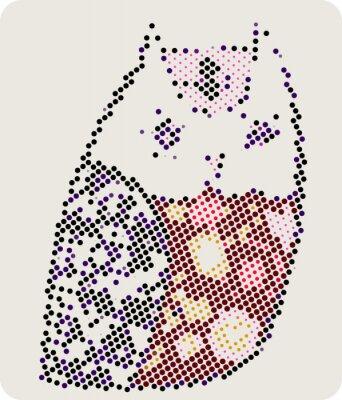 Naklejka sowa