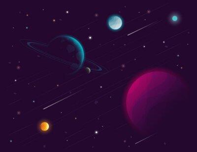 Naklejka Space tle. ilustracji wektorowych