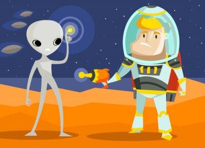 Naklejka Space War na Marsie