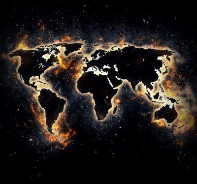 Naklejka Spalił Świat