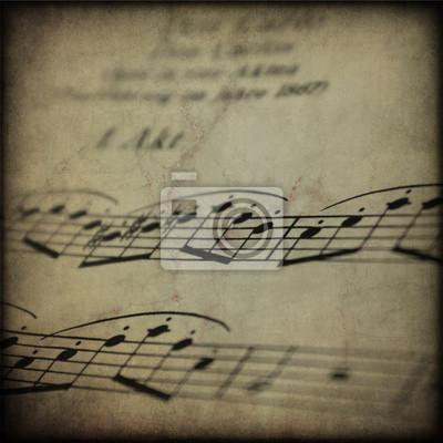 Spartito musicale su tekstury retro