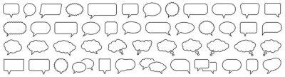 Naklejka Speech Bubble set. Talk bubble. Cloud speech bubbles collection. Vector