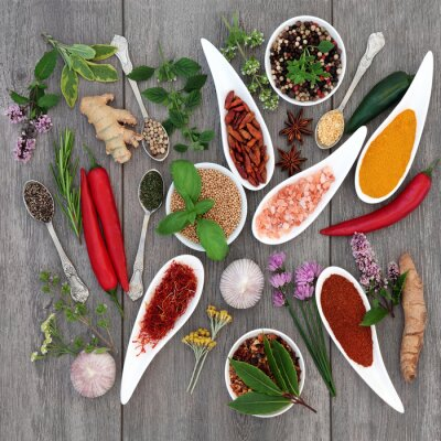 Naklejka Spice and Herb przyprawy