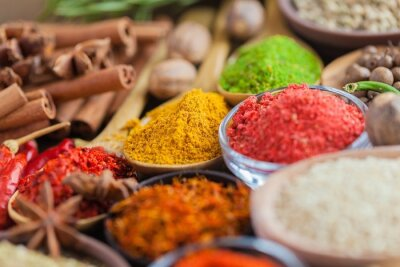 Naklejka Spice, żywności, indian.