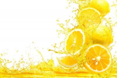 Naklejka splash of lemon slice