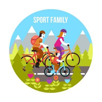 Naklejka Sport Family Concept